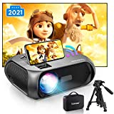 2021 Upgraded HD 1080P Wi-Fi Mini Projector, 6500 Lux Brightness, Native 1280x720P Portable Outdoor Movie Projector, Wireless Mirroring by WiFi/USB Cable, for TV Stick, Laptop, PS4, iPhone, Android