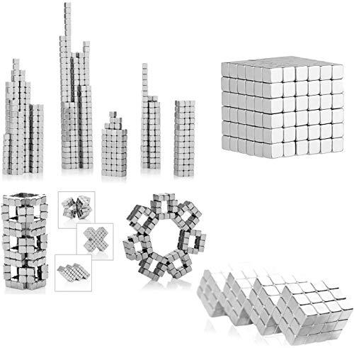 3T6B Rompecabezas 3D magnético para Ejercicio Intelectual, 216 imanes mágicos Rompecabezas de Cubo de 5 mm x 5 mm x 5 mm