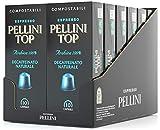 Pellini Caffè Top Arabica 100% Decaffeinato Naturale, Capsule Compatibili Nespresso, COMPOSTABILI e...