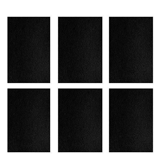 Queta 6 Stück Lederreparatur Repair Patch Kunstleder FlickenSelbstklebender Reparatur Aufkleber für Leder Sofa Möbel Autositz 10 X20cm