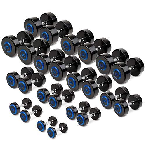 Sport-Thieme Kompakthantel PU |16 Gewichtsklassen: 2-40 kg | Gerändelter Griff | Kratz- und stoßunempfindlich | Fitness, Kraftsport, Gewichte | Markenqualität