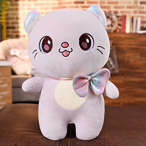 beauty eyes Soft Animal Plush Pillow Cat Plush Toy Cartoon cat Stuffed Cushion Doll Plush Pillow Children Doll Gift 40cm Gray