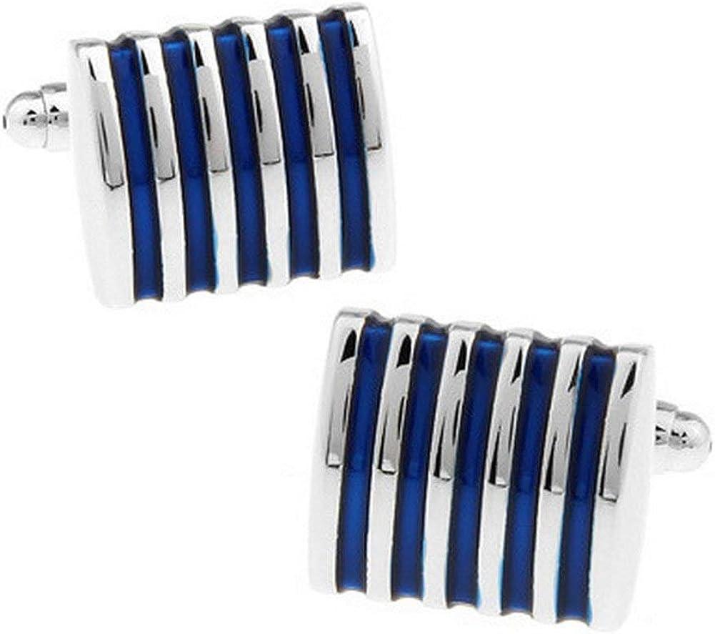 pulabo 1 Pair Bombing free shipping Men's Shirt San Antonio Mall Cufflinks Movement Stripe Cuffli Shape