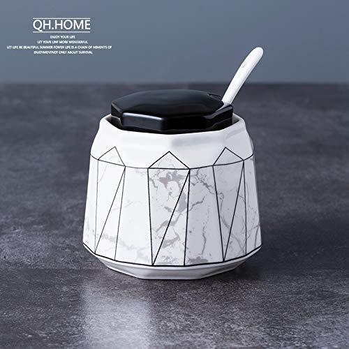 Forniture per cucina alte in ceramica Scatola per condimento domestico Shaker per sale Ciotola per...