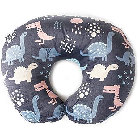 Maternity Breastfeeding Cushion Cover Newborn Infant Pillow Slipcover Organic Cotton Blue Dinosaur Print Soft and Comfortable Nursing Pillow Cover