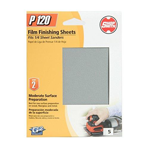 "4.5"" x 5Aluminum Oxide Sanding Sheets 120 Grit 5 Pack - Shopsmith 12312"