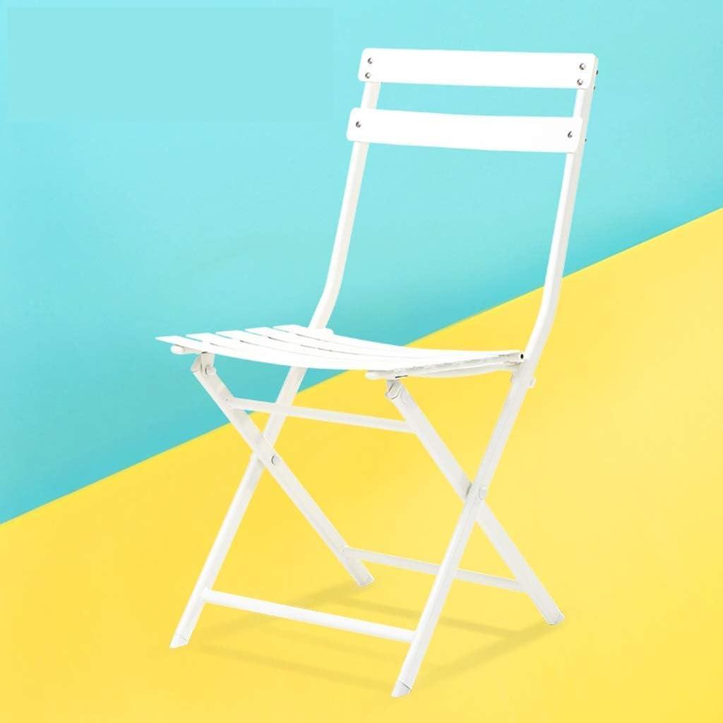Nécessités ménagères/Chaise Pliante Chaise de Salle à Manger Chaise de Mode Simple en Fer forgé Chaise de Loisirs de Balcon européen Chaise en métal (Couleur: Vert) C