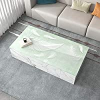JINHAN 透明テーブルマット、ダイニングテーブル保護カバー、PVCプリントテーブルクロス、コーヒーテーブル、ライティングデスクキッチンダイニングに適した 透明なテーブルクロス (Size : 90*160cm)