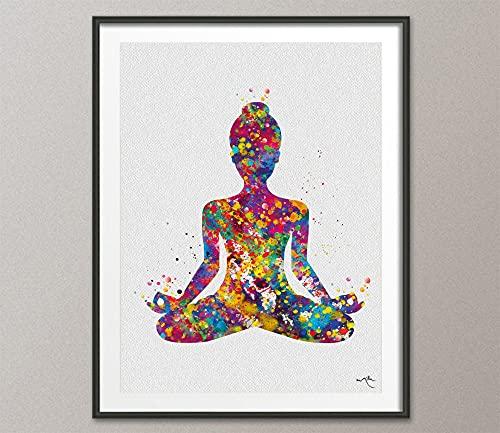 MG global Yoga Art, Yogi, Yoga Poster, Yoga Poster, Yoga Poste, Yoga Print, Yoga Woman Acuarela, Yoga Studio, Yoga Pose, Decoración de Pared, Yoga Regalo Yoga-1456 Arte de pared sin marco