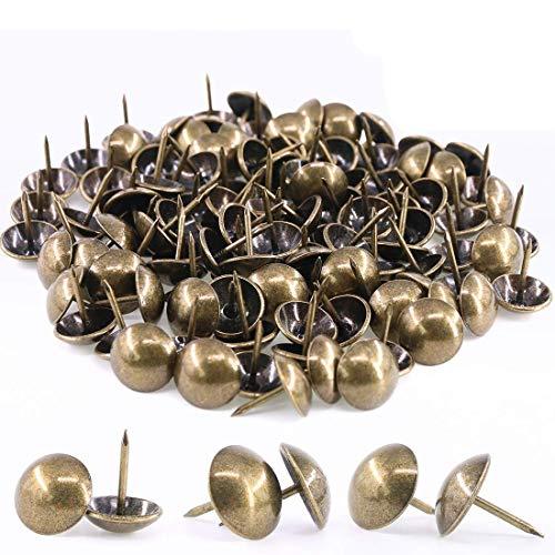 MroMax Polsternägel, 12 mm Kopfdurchmesser, 17 mm Länge, antik, rund, für Möbel,...