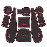 0beilita Alfombrilla Goma Antideslizante Coche para Chevrolet Aveo Sonic 2011-2017 Alfombra Goma Posavasos Accesorios Interior para Consola Central, Rojo