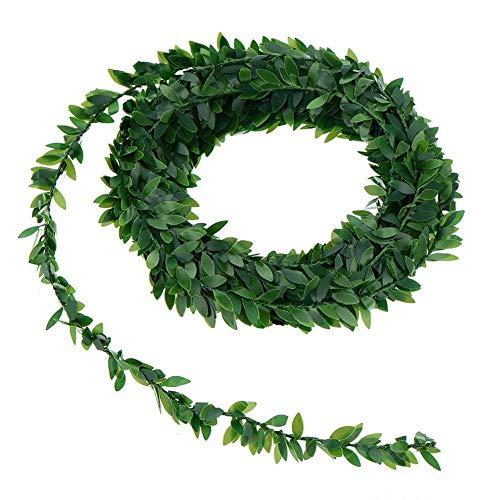 YINYUAN 7.5M Ivy Artificial Garland Follaje Verde Hojas Simuladas Plantas Vine for Hogar, Cumpleaños, Decoración de Fiesta (Color : 20PS)