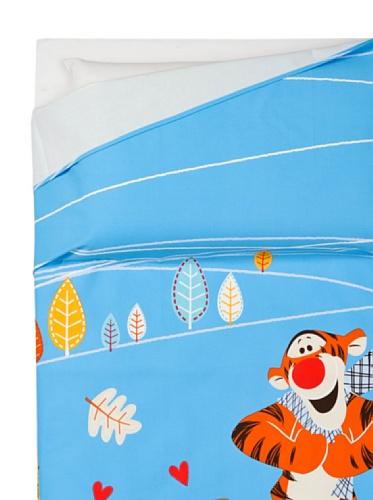 Disney Colcha no Acolchado de Panama Winnie The Pooh Diseño Azul Caleffi