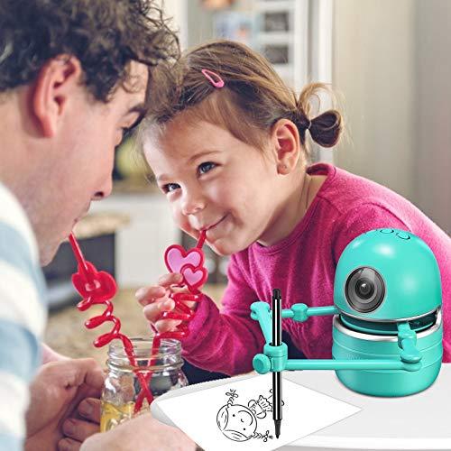 KKTECT Robot Artist Creative Doodling Robot, Einzigartiges Geschenk für Kinder Pädagogischer intelligenter automatischer Zeichenroboter, Einschließlich 4 Bücher, 38 Karten und 2 Stifte