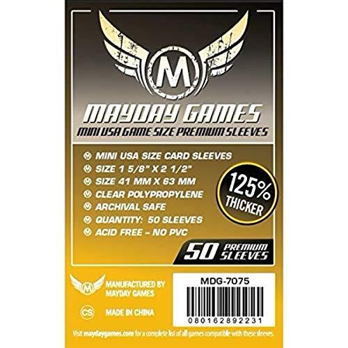 Mayday Games Juego de Cartas Mini USA Premium de 41 x 63 mm (Paquete de 50)