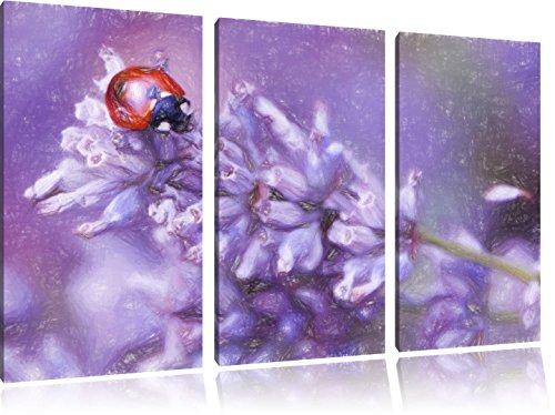 Pixxprint Petite Coccinelle sur Lavender Art Crayon Effect 3