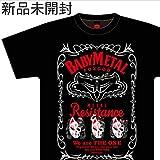 新 FOX CITY ベビーメタル babymetal Tシャツ 黒色