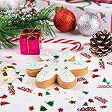 GWHOLE 100g Metallic Konfetti Weihnachten Tischdeko Streudeko DIY Handwerk Basteln - 7