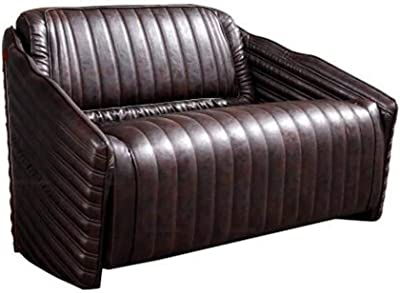 Amazon.com: ACME Furniture AC- Sofa, Retro Brown TG Leather ...