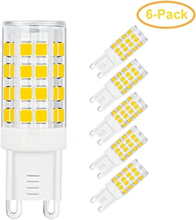 SumVibe G9 LED Bulb 5W, 40W G9 Halogen Bulb Replacement, 420LM, Daylight White 6000K, AC100V-240V, G9 Base Non-Dimmable Light Bulbs, 6-Pack