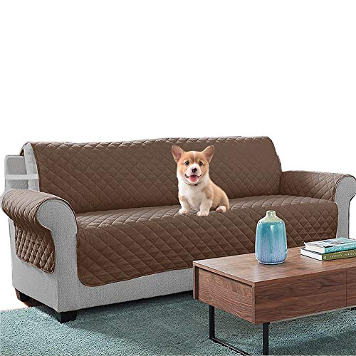 Relarr Water proof Sofa Covers Couch Slipcovers Furniture Protector, Pet Sofa Protector, Non-slip design with Silica gel point Machine Washable (Coffee, 3 seaters)