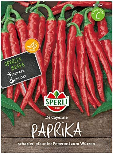 Sperli Premium Paprika Samen De Cayenne ; scharfer, süßer, pikantes Peperoni Saatgut ; Peperoni Samen