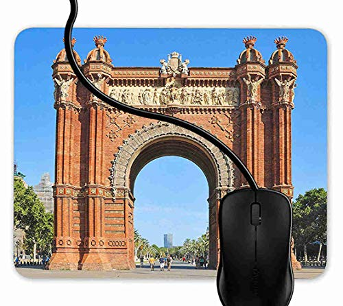Preisvergleich Produktbild Mauspad Arc de Triomf Barcelona,  Spanien Rutschfeste Gummi Basis Mouse pad,  Gaming mauspad für Laptop,  Computer 1F1513