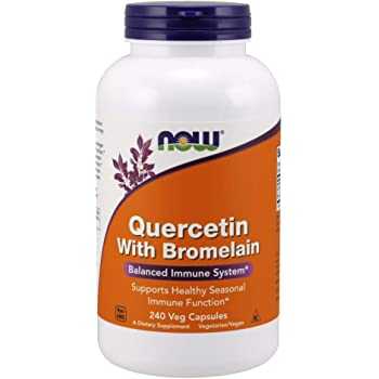 NOW Supplements, Quercetin with Bromelain, Balanced Immune System*, 240 Veg Capsules