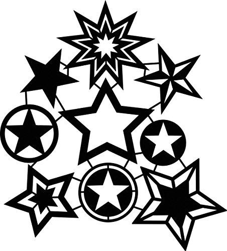 Marabu - Plantilla para Estarcido (30 x 30 cm), diseño de Estrellas