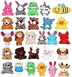Vamei 27 Piezas Llavero Peluche Mini Animales de Peluche Juguetes Colgados para Decoración Llavero D...