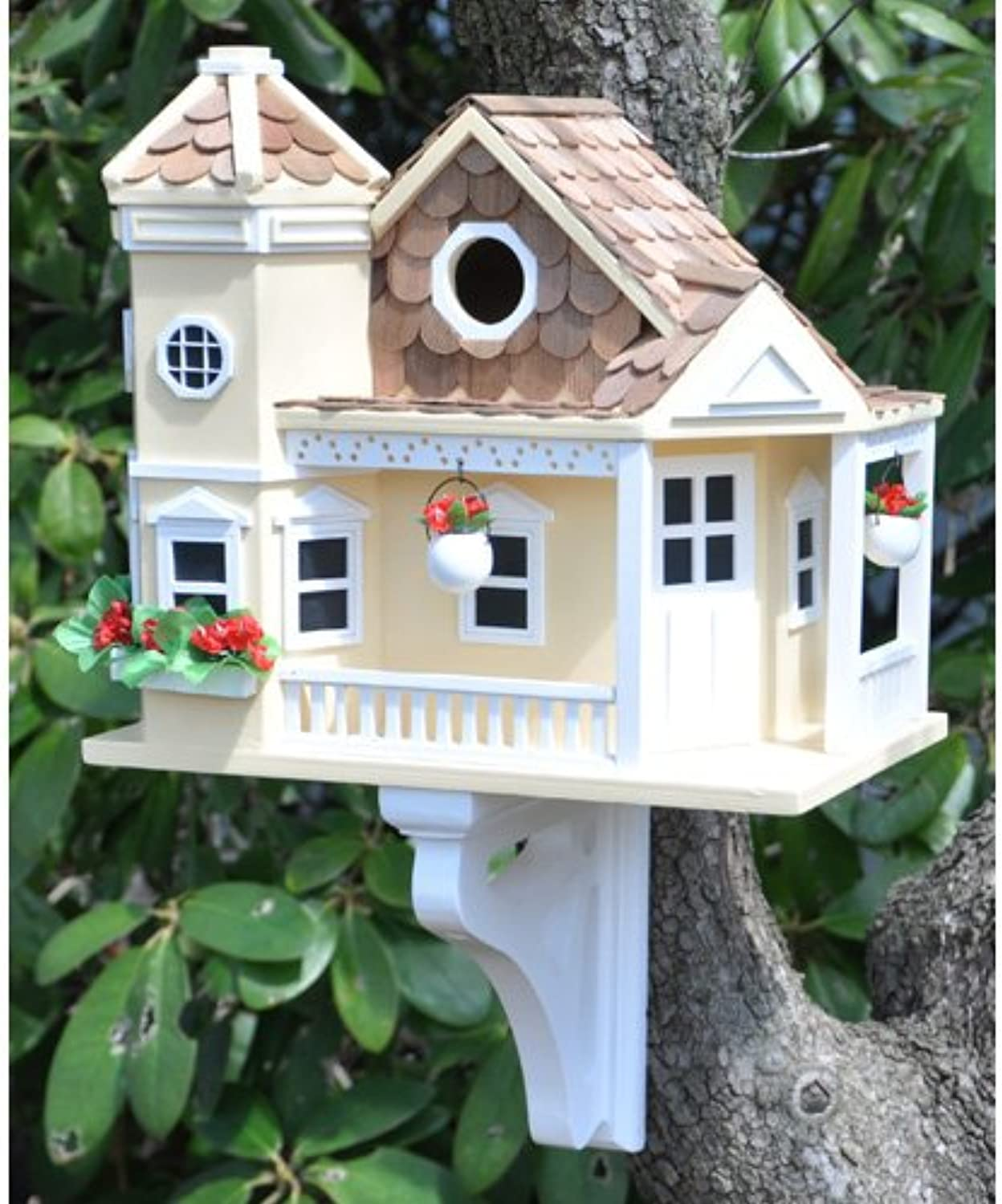 A Delightful And Decorative Cottage Style Bird House Home and Feeder