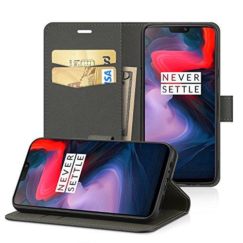 EasyAcc OnePlus 6 Custodia, Portafoglio in pelle PU Portafoglio Cover con Tasca per carta e Copertura Pieghevole Case con Supporto...