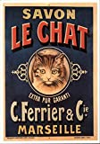 Savon Le Chat Advertising Reproductions Original Vintage Postcard