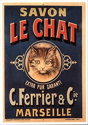 Savon Le Chat Advertising Reproductions Original Vintage Postcard