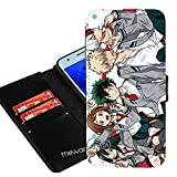 Case for Samsung Galaxy J7 V / J7 Perx/Galaxy J7 (2017) / J7 Sky Pro, My Hero Academia Anime Manga Comic PU Leather Wallet Folio Flip w/ID Card Slot + Thewart8 Stylus Pen (#1)