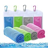 """Best Cooling Neck Wraps - ICECUUL Cooling Towel 4 Packs (44""""x15"""") Theme Park Review"""