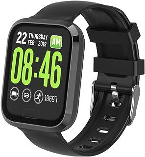 LBFXQ Monitor De Ritmo Cardíaco Step Calorie Counter Sleep Monitor, Fitness Tracker Watch for Kids Girls Boys Teens, Fitness Tracker HR,Negro