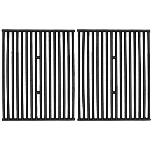 VICOOL 15' Matt Cast Iron Grill Grates Cooking Grid Replacement for Broil King 9865-5, Broil-Mate 165154, Sliver Chef, Sterling and Huntington Gas Grills, Set of 2, (hyG436B)