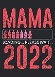 Notizbuch A4 kariert mit Softcover Design: Mama 2022 Loading Babyflaschen Gaming Mum GeburtsDesign: 120 karierte DIN A4 Seiten