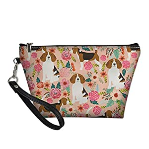 HUGS IDEA Fashion Animal Print Makeup Bag Women PU Leather Cosmetic Pouch