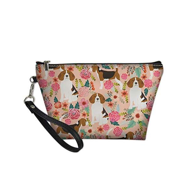 HUGS IDEA Fashion Animal Print Makeup Bag Women PU Leather Cosmetic Pouch