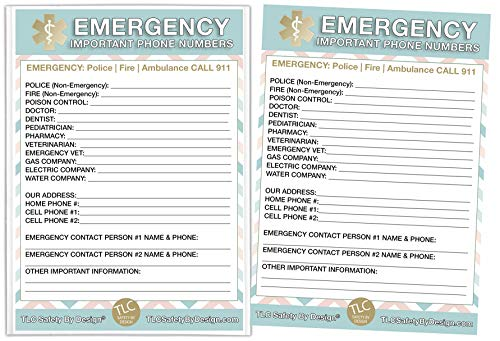 """Buy Cheap Emergency Contact Cards in Magnetic Sleeve Home Alone 5"""" x 7"""" Doctor Approved Refriger..."""