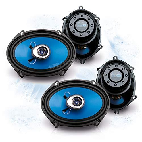SINUSTEC Front/Heck 5x7/15x20cm Auto Lautsprecher/Boxen/Speaker Komplett-Set kompatibel für Mazda
