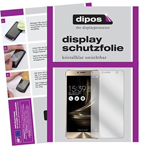 dipos I 2X Schutzfolie klar kompatibel mit Asus Zenfone 3 Deluxe ZS550KL 5,5 Zoll Folie Bildschirmschutzfolie