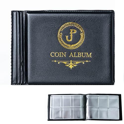 Uncle Paul Album da Collezione di Monete 60 Tasche - Griglie 35x35mm Nero Mini Album per Coin / Penny Collection & Storage CS4206BK