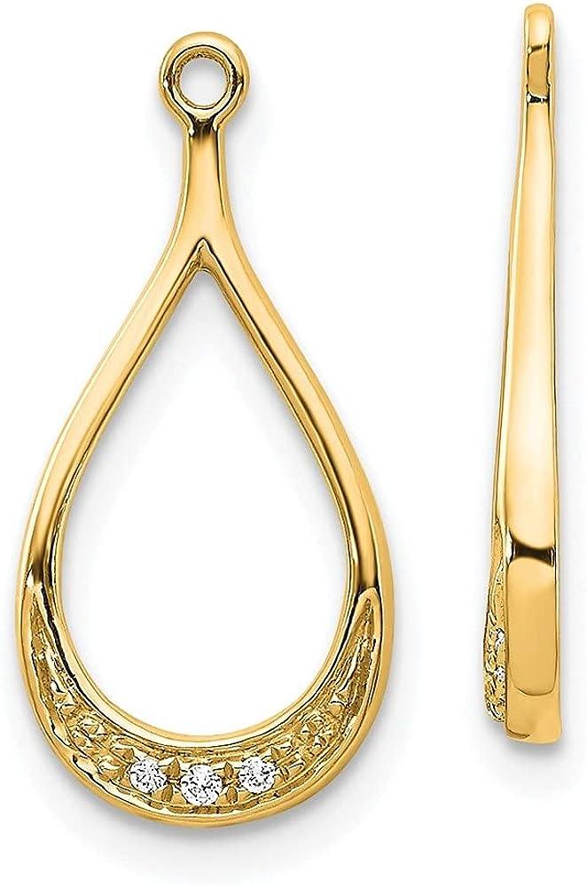 14k Yellow Gold Yellow Gold Diamond Earring Jackets