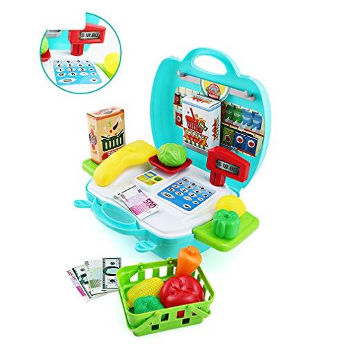 ZMH Kinder-Supermarkt-Rollenspiel, Kinder Kaufen Gemüse Registrierkasse 2-3-4-5 Jahre Alt Junge Und Mädchen Spaß Spielzeug