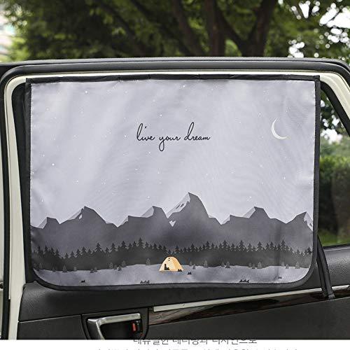 Magnetverschluss Auto Sonnenschutz Vorhang für Seite Fenster für Baby Kinder Kinder - Sonnenschirm Displayschutzfolie - Schützt vor Sonne Blendung und Hitze (Be-Camping Curtain)
