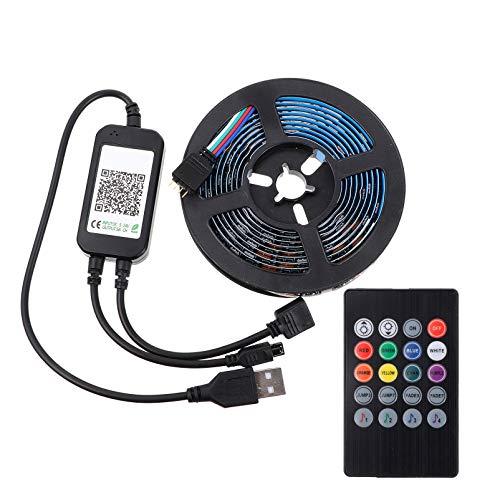 EXCEART 2M Tv Led Backlights Led Strip Lights Smart Led Lights App Remote Color Muda Rgb Tape Lights Kit with Remote for Tv Room Teto Bedroom