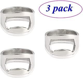 Forum Novelties [3 PCS ZLMC Stainless Steel Beer Ring Bottle Opener Lightweight Pack of 22mm (Silver)